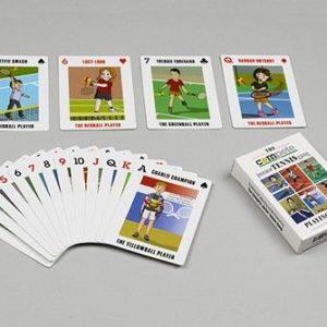Tennis Cartoon Playing Cards